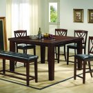 2216 - 6 Pcs Counter Height Set with Extension (Walnut)