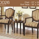 KF0026 (3 Pcs Traditional Accent Chair Set)