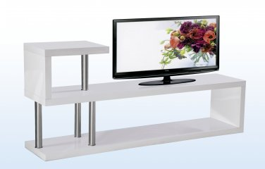 Hollow Core Modern Tv Console (White)
