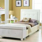 YY07 - Cameron (White) Twin Day Bed w/ Storage Bench - Faux Leather