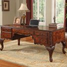 CD120 – Executive Traditional Office Desk w/ Hand Carved Designs