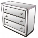 T1803 - Jameson 3 Drawer Chest (Special Edition) Silver/ Mirrored Inlays