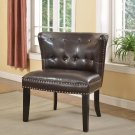 896 – Regal Tufted Accent Chair with Nail Heads (Espresso)