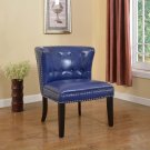 896 – Regal Tufted Accent Chair with Nail Heads (Navy Blue)