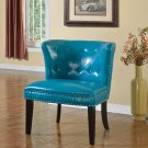 896 – Regal Tufted Accent Chair with Nail Heads (Sea Green)