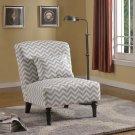 3017- Costa Calma Decorative Fabric Accent Chair Gray/White