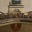 763- Salvatore Traditional 3 Pcs Sectional (Golden Brown Fabric)