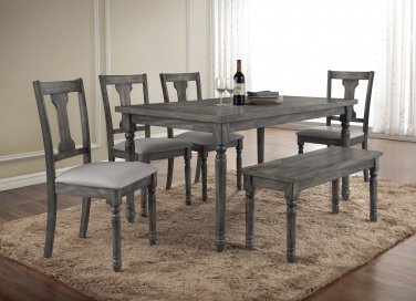 Demi � 6 Pcs Rustic Dining Table Set