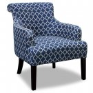585 – Blue/ White Regency Living Room Accent Chair