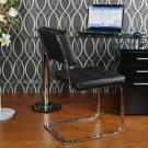 BA28 –Olivia Contemporary Glass Top Writing Desk (Black)