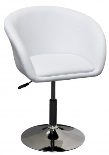 WY440 � Adjustable Swivel Faux Leather Coffee Chair (White)