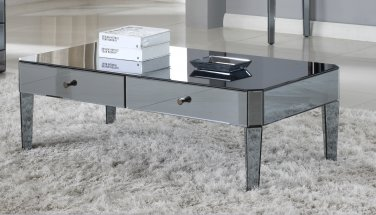 D1120 � Empire Smoked Mirror Glass Living Room Coffee Table