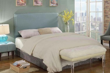 YY1001 � Mid Century Upholstered Headboard with Nail Heads (Pistachio/ Twin Size)