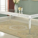T1840 – Sophie Silver Mirrored Dining Room Table