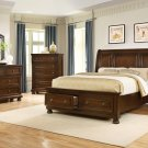 B3169 – Barrington 5 Pcs Dark Cherry Panel Bedroom Set (Cal King)