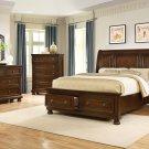 B3169 – Barrington 5 Pcs Dark Cherry Panel Bedroom Set (Queen)