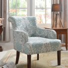 589- Teal/ Light Blue Living Room Accent Arm Chair