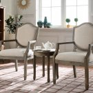 KF0027 – Kourtney 3 Pcs Living Room Accent Arm Chair Set (Antique Natural)
