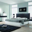 Ireland – Modern White 5 Pcs Lacquer Platform Bedroom Set (Queen)