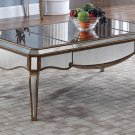 FRA2018 – Contemporary Mirrored with Gold Trimmings Living Room Rectangular Coffee Table