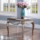 FRA2018 – Contemporary Mirrored with Gold Trimmings Living Room End Table