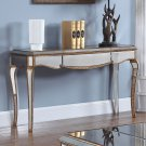 FRA2018 – Contemporary Mirrored with Gold Trimmings Living Room Sofa Table