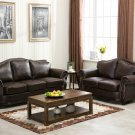 1567 – Transitional Brown Bonded Leather Living Room Set