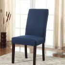 594 – Marina Blue Upholstered Dining Side Chair