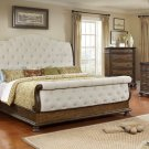 B1880 – Adele Sleigh Weathered Oak Bedroom 5 Pcs Set (Queen)