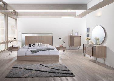 Brazil � Mid Century Modern Taupe Bronze Bedroom  (California King)