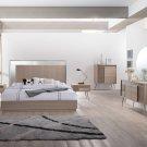 Brazil – Mid Century Modern Taupe Bronze Bedroom  (Eastern King)