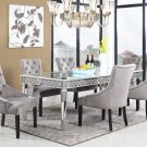 T1840- Sophie Silver Mirrored 5 Pcs Dining Room Set