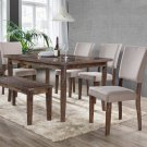 Mindy – 6 Pcs Transitional Antique Natural Oak Dining Room Set