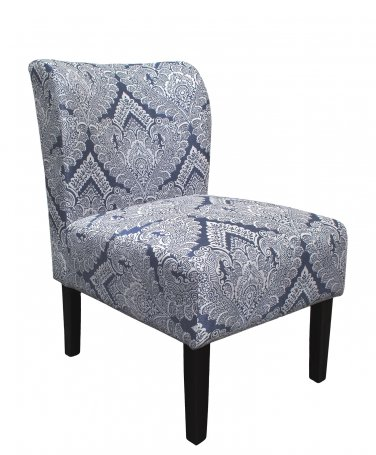 5085 �Azure Damask Armless Living Room Accent Chair