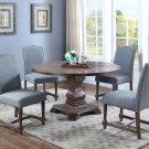 M084 – Mannsville 5 Pcs Rustic Wood Dining Set (Eton Blue)