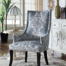 604 – Audrey Teal Grey Fabric Living Room Accent Chair