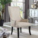 618 – Melville Natural Fabric with Nail Heads Living Room Accent Chair