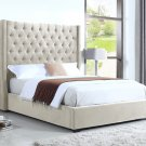 385 – High Profile Natural Upholstered Bed (Cal. King)