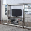 T1803 – Jameson 4 Pcs Entertainment Center (Silver Antique Mirrored Finish)
