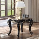 1615-Jane Austen Antique Black with Gold Trimming End Table