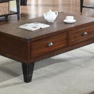 DX600 – Carly Walnut with Black Iron Nail Heads Living Room Coffee Table