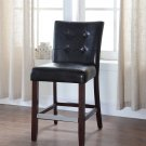 611 – Kitchen Faux Leather Counter Height Chair (Black)