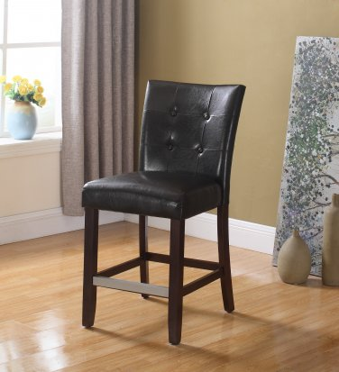 611 � Kitchen Faux Leather Counter Height Chair (Espresso)