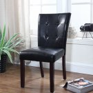 611 – Upholstered Faux Leather Dining Side Chairs (Black)