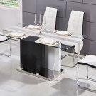 ME02 – Marilyn 5 Pcs Rectangular Dining Set (White)