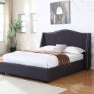 386 Platform Bed Queen (Charcoal)