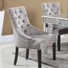 T1805 – Jameson Suede 2 Pcs Dining Accent Chairs (Otter)