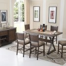DX1520 – Dark Oak with Marble Center Top 7 Pcs Counter Height Dining Set