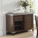 DX1520 – Dark Oak with Nail Heads and Center Marble Top Server
