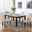 9802 – Celeste 5 Pcs Faux Marble Antique Black Dinette Set